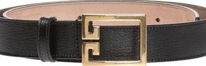 Givenchy Calfskin Leather Belt w/ Double-G Logo Bu